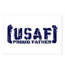 Proud USAF Fthr - Tatterd Style Postcards (Package