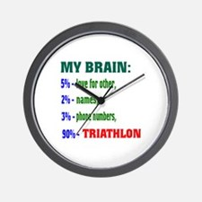 My Brain, 90 % Triathlon . Wall Clock