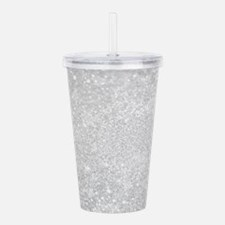 Silver Glitter Style Acrylic Double-wall Tumbler