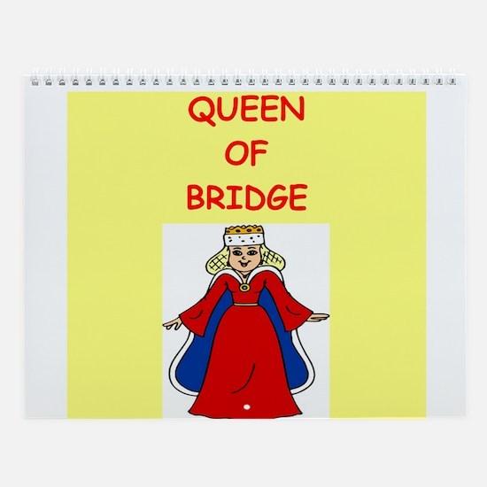 Women Bridge Players Wall Calendar