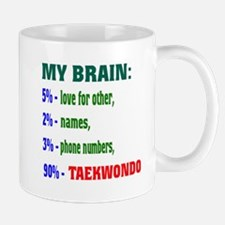 My Brain, 90 % Taekwondo . Mug