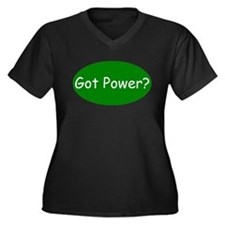 Power Plant Operator Women's Plus Size V-Neck Dark