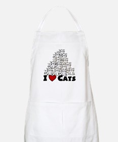 I Love CATS CUTE BBQ Apron