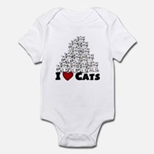 I Love CATS  CUTE Infant Bodysuit