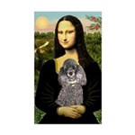 Mona / Poodle (s) Sticker (Rectangle)