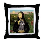 Mona / Poodle (s) Throw Pillow