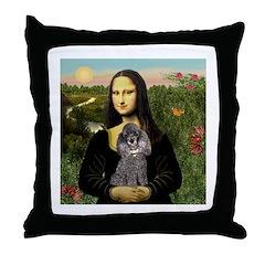 Mona / Poodle (s) Throw Pillow
