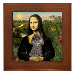 Mona / Poodle (s) Framed Tile