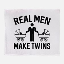 Real Men Make Twins Stadium Blanket