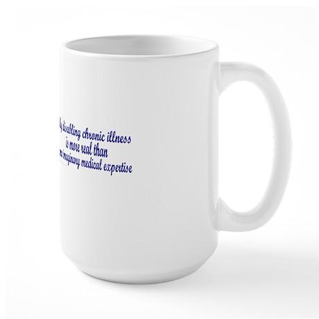 Serenity Slogan (clouds) Large Mug