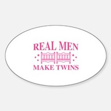 Real Men Make Twins Decal
