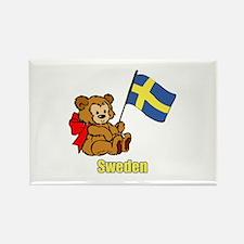 Sweden Teddy Bear Rectangle Magnet
