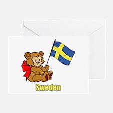 Sweden Teddy Bear Greeting Card