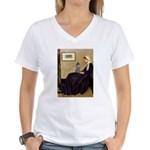 Whistler's / Poodle(s) Women's V-Neck T-Shirt