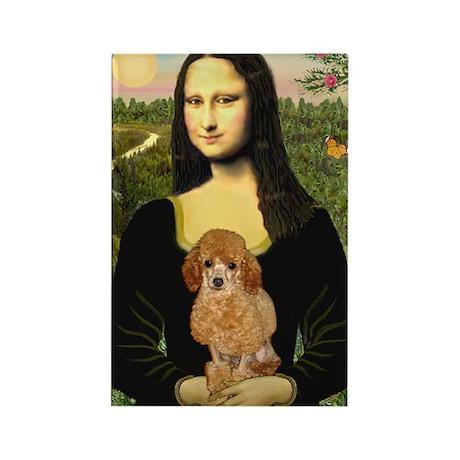 Mona / Poodle (a) Rectangle Magnet