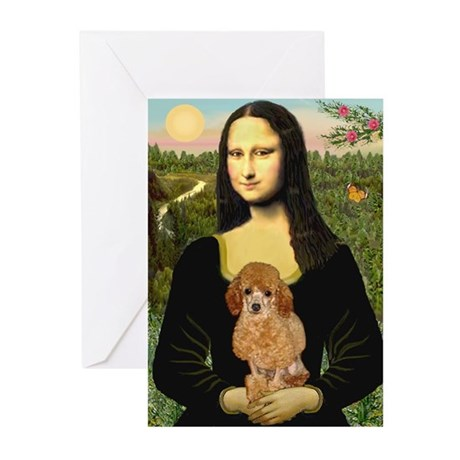 Mona / Poodle (a) Greeting Cards (Pk of 10)