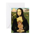 Mona / Poodle (a) Greeting Card