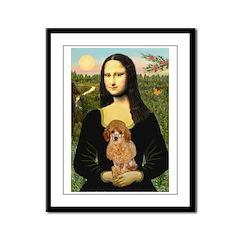 Mona / Poodle (a) Framed Panel Print