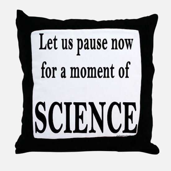 Cute Science teacher Throw Pillow