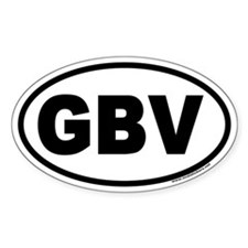 GBV Euro Style Oval Decal