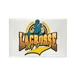 Lacrosse My Game Rectangle Magnet (10 pack)