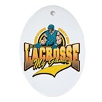 Lacrosse My Game Oval Ornament