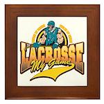 Lacrosse My Game Framed Tile