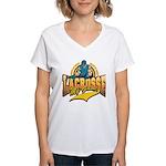 Lacrosse My Game Women's V-Neck T-Shirt