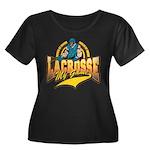Lacrosse My Game Women's Plus Size Scoop Neck Dark
