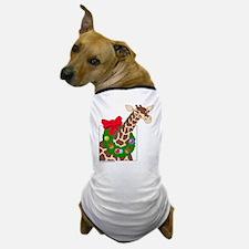 Giraffe with Wreath Dog T-Shirt