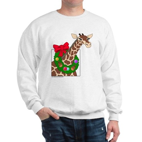 Giraffe with Wreath Sweatshirt