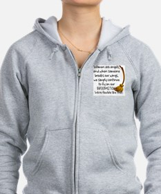 Cute Womens angel Zip Hoodie