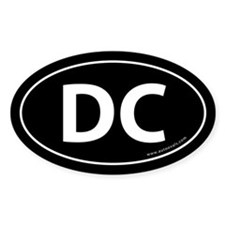 Washington DC Auto Sticker -Black (Oval)