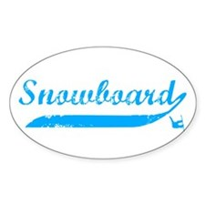 Snowboard Oval Decal