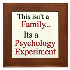 Family Psych Experiment2 Framed Tile