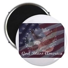 God Bless America 2 Magnet