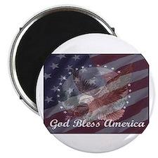 """God Bless America 2 2.25"""" Magnet (100 pack)"""