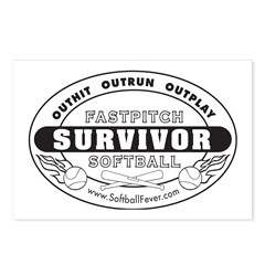 Softball Survivor Postcards (Package of 8)