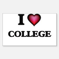 I Love College Decal