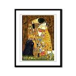 Kiss / Puli Framed Panel Print