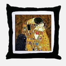 Kiss / Puli Throw Pillow