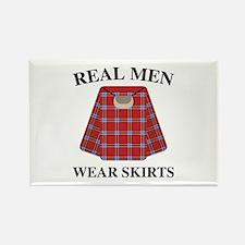 Real Men Wear Skirts Rectangle Magnet