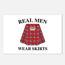 Real Men Wear Skirts Postcards (Package of 8)