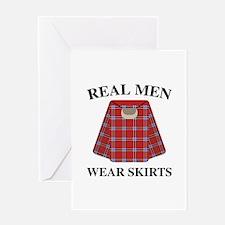Real Men Wear Skirts Greeting Card