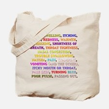 Cute Allergic to nuts Tote Bag
