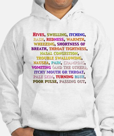 Cool Allergic to eggs and nuts Hoodie