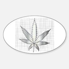 Funny Medicinal cannabis Sticker (Oval)