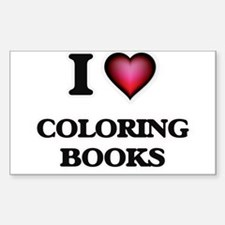 I love Coloring Books Decal