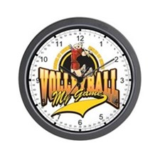 Volleyball My Game Wall Clock