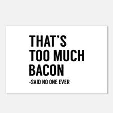 That's Too Much Bacon Postcards (Package of 8)